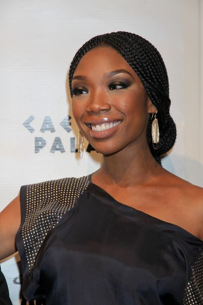 Brandy's braided, updo hairstyle