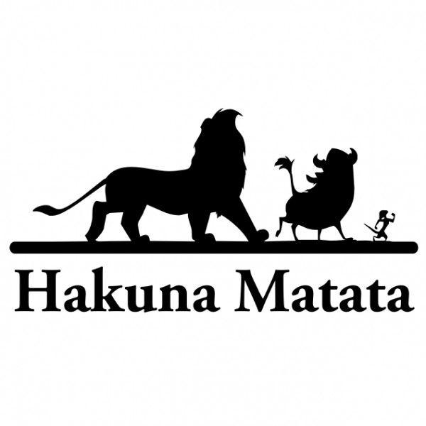 Lion King Hakuna Matata T-Shirts | Lion king - Hakuna matata raamfolie-sticker