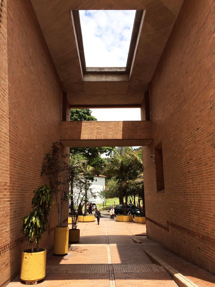 Bogota (Colombia) - Archivos Distritales - Rogelio Salmona - entrance