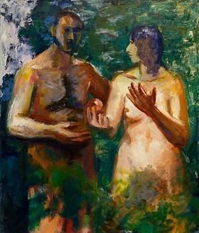 Adam and Eve - Elmer Bischoff