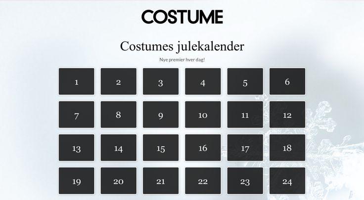 Sjekk ut Costumes julekalender! Nye premier hver dag.