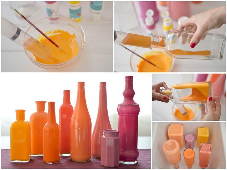 M s de 1000 ideas sobre pintar botellas en pinterest botellas de vino botellas de vino - Tutoriales de decoracion ...