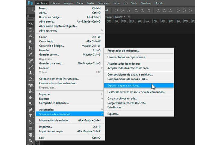 Exportar capas de Photoshop en archivos individuales #diseño http://blgs.co/hsv5V-