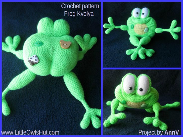 Amigurumi Green Frog : 1000+ images about Crochet / knit frog on Pinterest ...