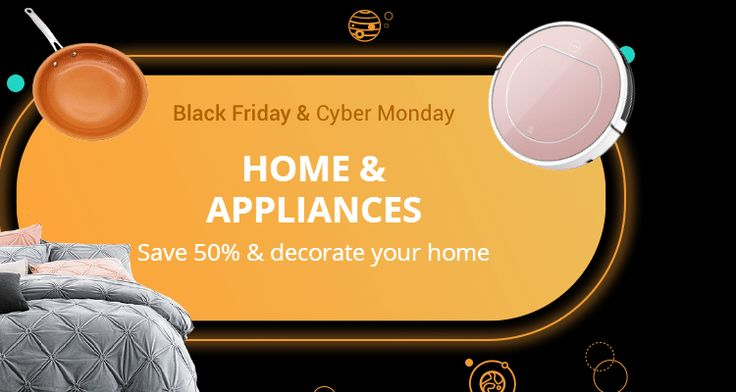 [#Black #Friday & #Cyber #Monday] #Home & #Appliances: Feather your nest with these awesome finds! #Save 50% and #decorate your home.! Black Friday steals & #deals. Only available til Sunday.