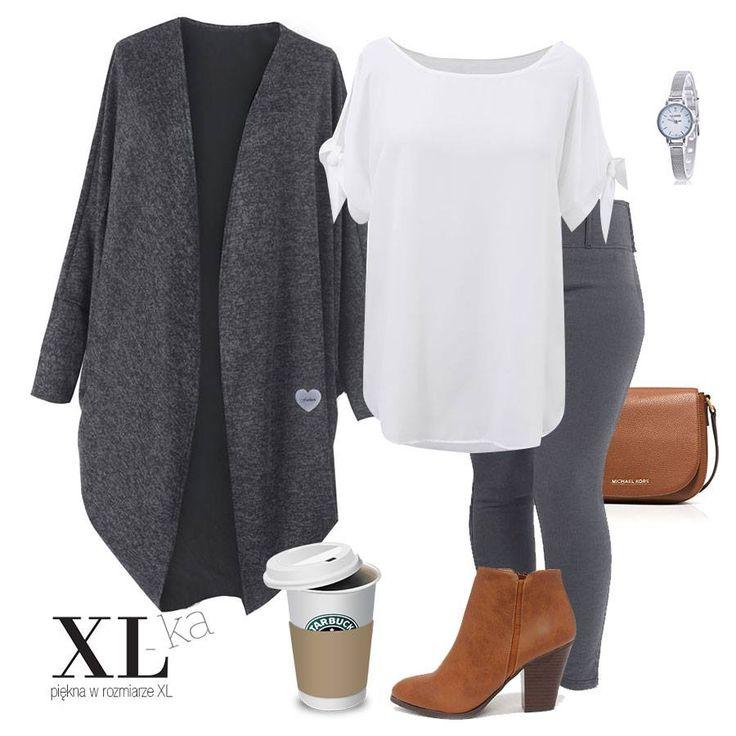 W sklepie XL-ka modne ubrania z kolekcji plus size. Legginsy, białą bluzka i efektowna narzutka w dużych rozmiarach.  Zapraszamy do zapoznania się z naszą kolekcją.