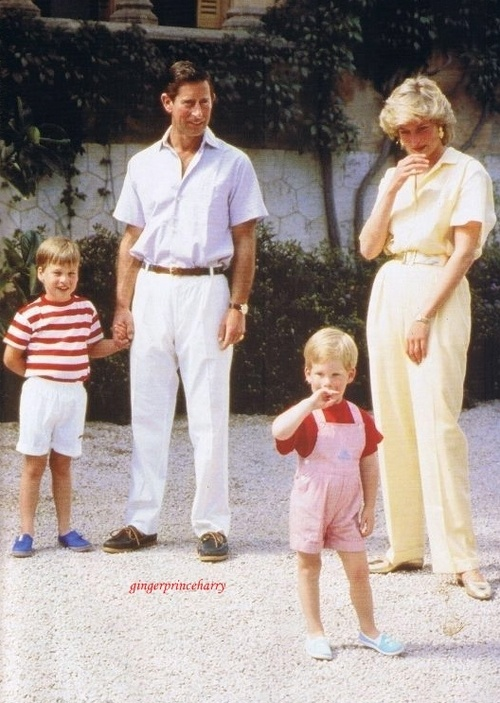 The Wales family on holiday with the Spanish King Juan Carlos and his family at the Marivent Palace on the island of Majorca, Spain, August 9, 1987