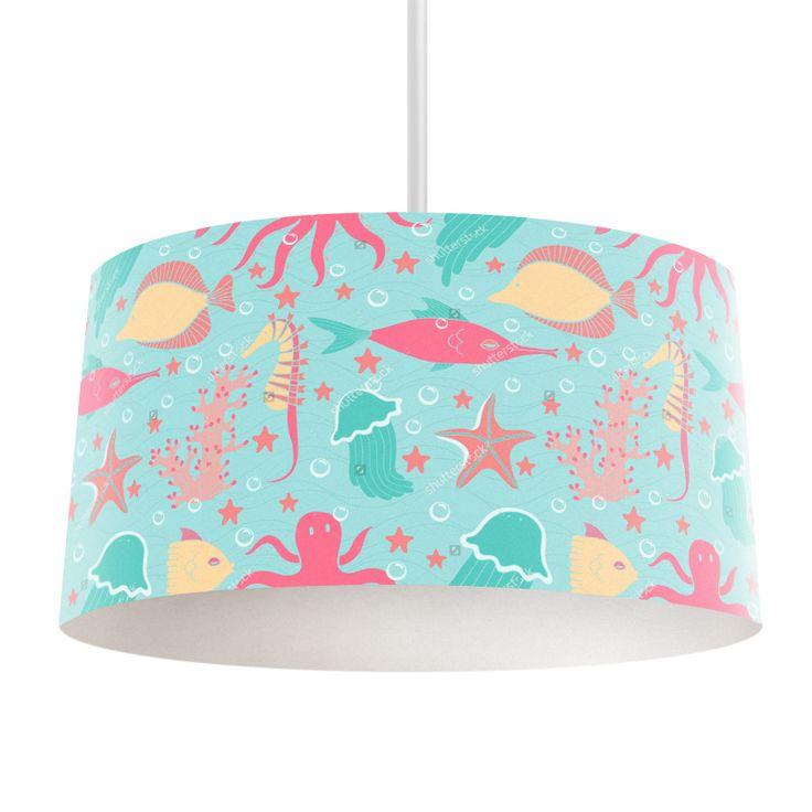 Lampenkap Zeefeestje | Bestel lampenkappen voorzien van digitale print op hoogwaardige kunststof vandaag nog bij YouPri. Verkrijgbaar in verschillende maten en geschikt voor diverse ruimtes. Te bestellen met een eigen afbeelding of een print uit onze collectie.  #lampenkap #lampenkappen #lamp #interieur #interieurdesign #woonruimte #slaapkamer #maken #pimpen #chic #diy #modern #bekleden #design #foto #kinderkamer #onderwater #water #oceaan #vis #vissen #zeester #kwal