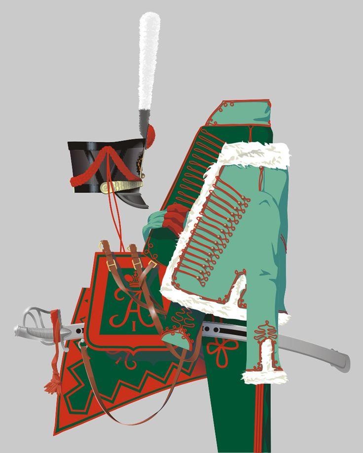 Полковые цвета павлоградских гусар в 1812 году