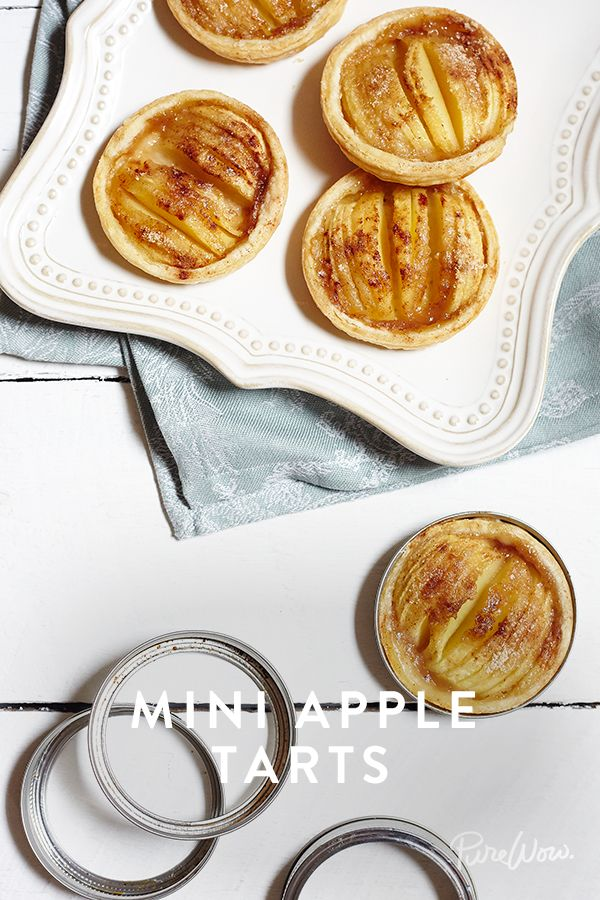 Mini Apple Tarts. No fancy baking trays required. If you've got mason jars at home, round them up and follow along for a quick and easy dessert that's a hit for everyone.