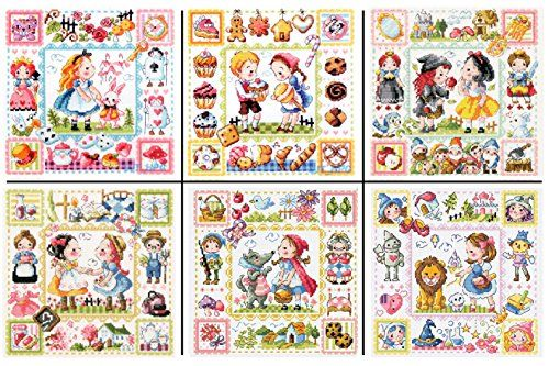 SODAstitch A Fairy Tale series 6 patterns. Alice / Hensel…