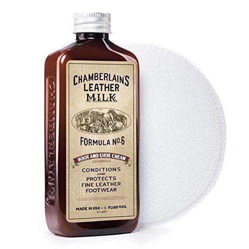 Chamberlain en cuir de lait Revitalisant et nettoyant formule à bottes et chaussures en cuir n ° 6?Crème naturelle pour randonnée et…