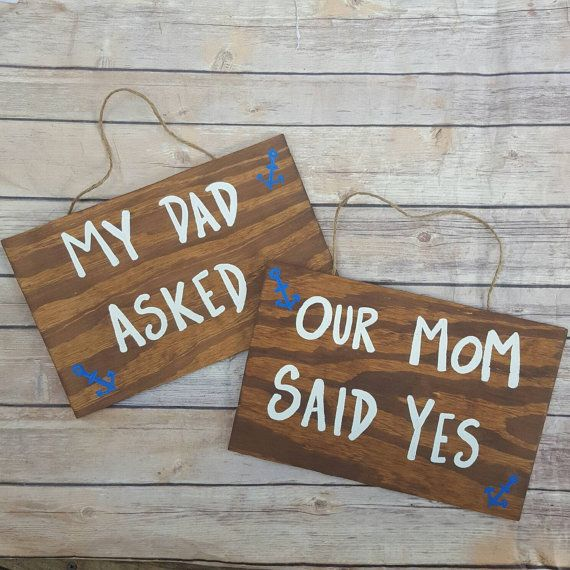 Blended Family Engagement Sign Wooden Engagement photo prop sign made to order nautical engagement signs Parents Engagement Announcement by ThePeculiarPelican #etsyseller #etsyshop #woodensigns #customsigns #shopsmall #shopping #gifts #giftideas #porchsigns #weddingsigns #southernsigns #quotes #handmade #handpainted #signs http://ift.tt/2cL83vS