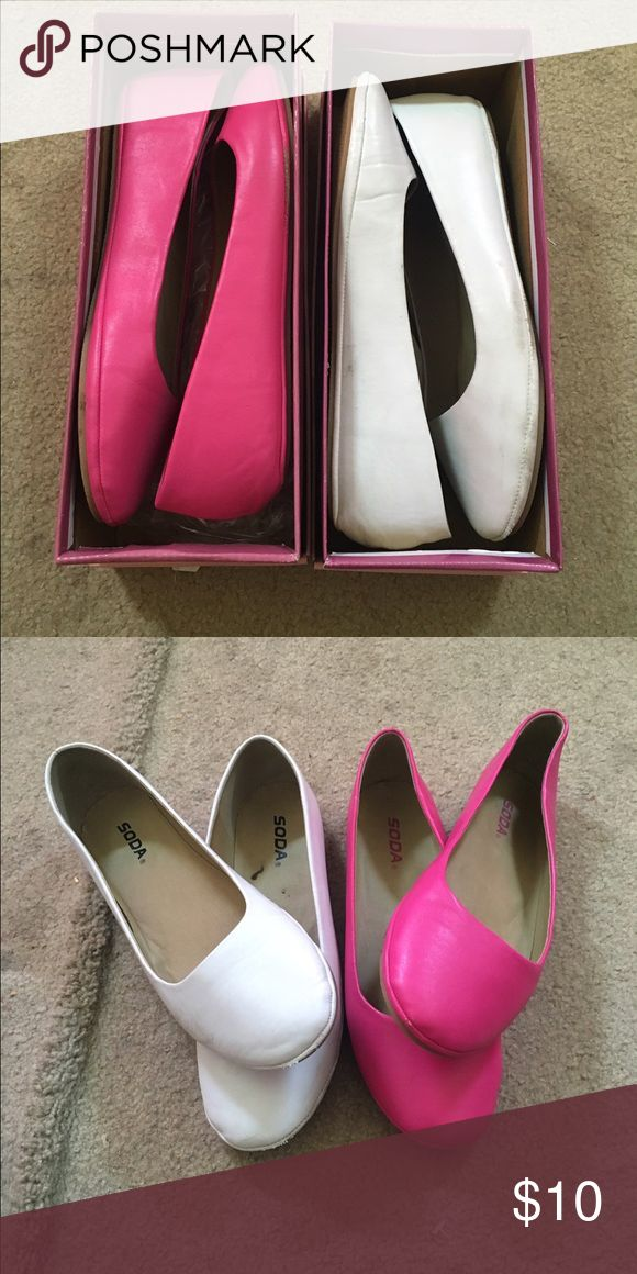 TWO FLATS FOR SALE SODA BRAND - GOOD CONDITION - SZ 9 Soda Shoes Flats & Loafers