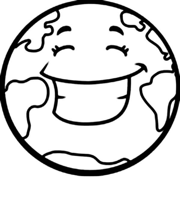 Desenhos Para Colorir Do Planeta Terra Sorrindo 02 Desenho Dos