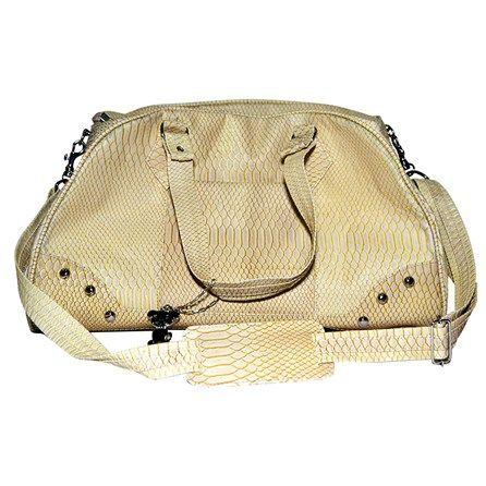 Bolsa Escama Peixe Bege São Pet - Bolsa Para Transporte em Escama de Peixe, a bolsa simula escamas de peixe, muito confortável e bonita para você andar sempre na moda com seu pet. MeuAmigoPet.com.br #petshop #cachorro #cão #meuamigopet