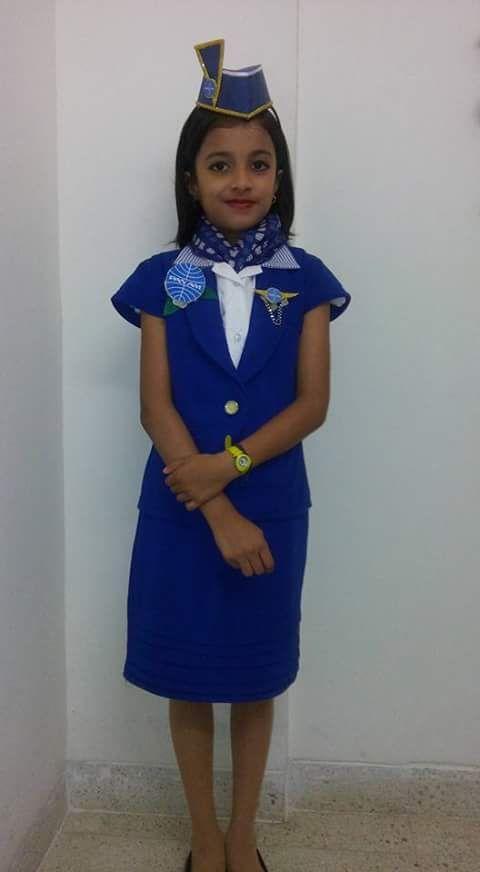033826002c3 Fancy dress ideas for kids...Neerja Bhanot, Air hostess for fancy ...