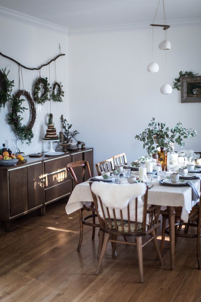 Local Milk   merry & bright   gingerbread sorghum cake + diy wreaths & muslin wrapping