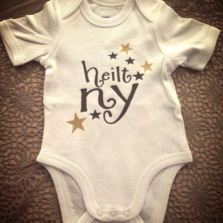 Babybody med selvlaget design