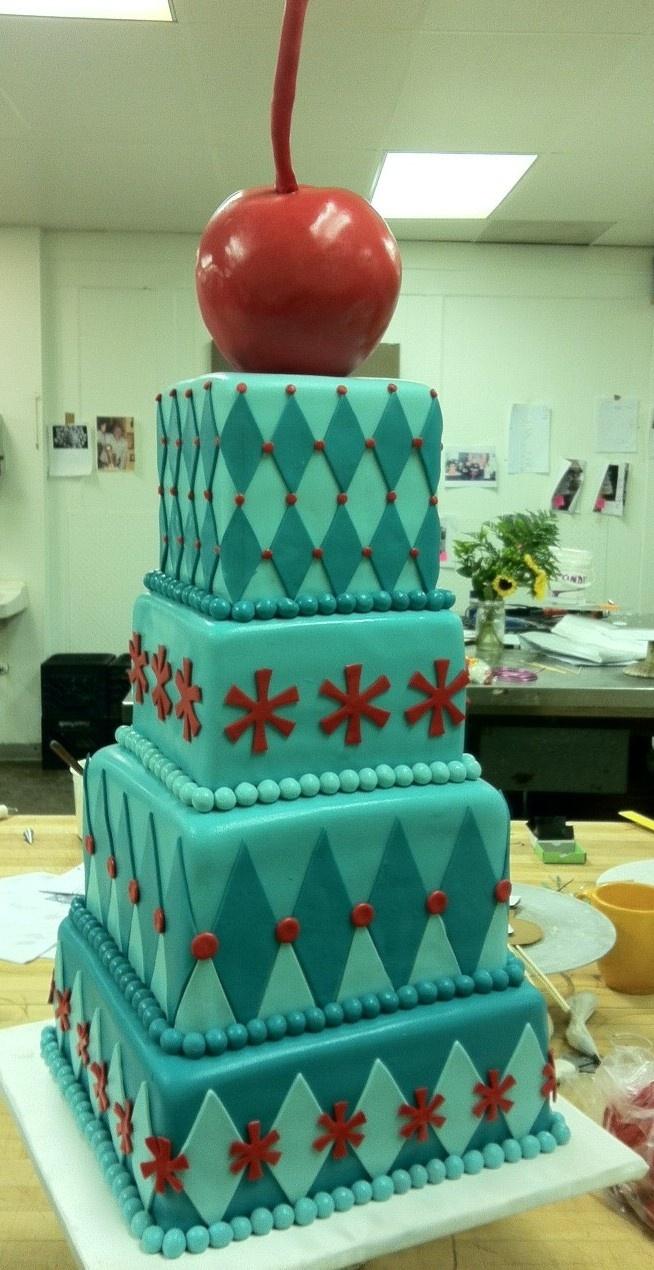 Red Cherry Cake