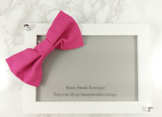 Pink Clip On Bow Tie  Baby Clip On Bow Tie  by SassySwankBoutique