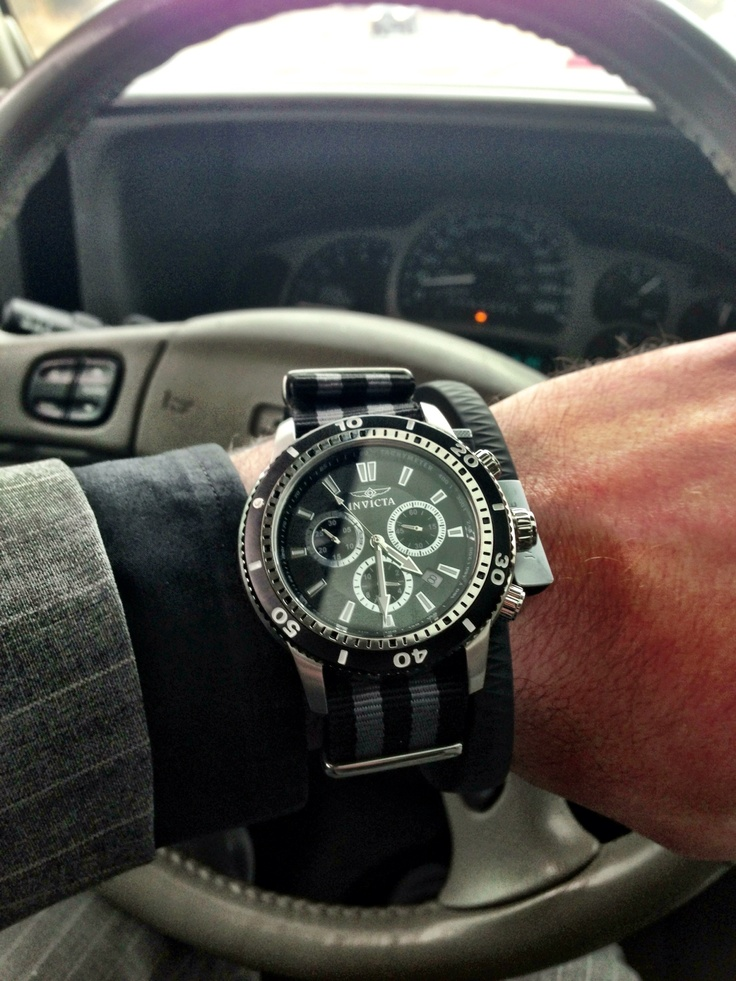 Clockwork Synergy watch band on Invicta 1203 II.  Brought life to a watch out of rotation...