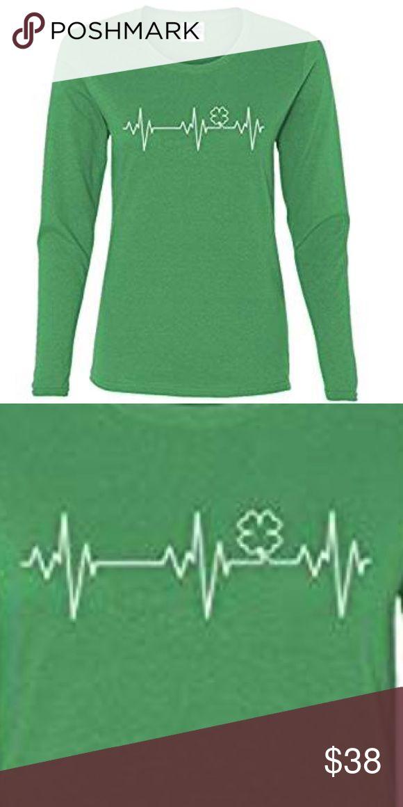 Irish Heartbeat St. Patrick's Day Shirt Ladies Long Sleeve Irish Clover Heartbeat St. Patrick's Day Shirt. Size Large. ☘️ (size 6, bust: 32-36) Tops Tees - Long Sleeve