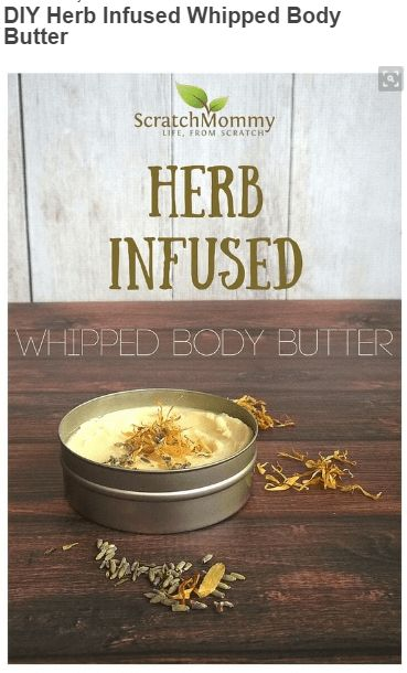 nice DIY Herb Infused Whipped Body Butter