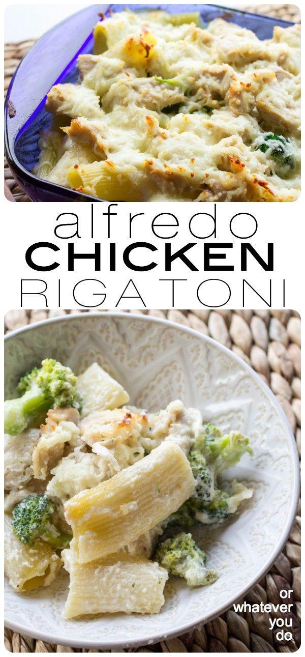 Cheesy Chicken Alfredo Rigatoni I www.orwhateveryoudo.com I #recipe #kids #dinner