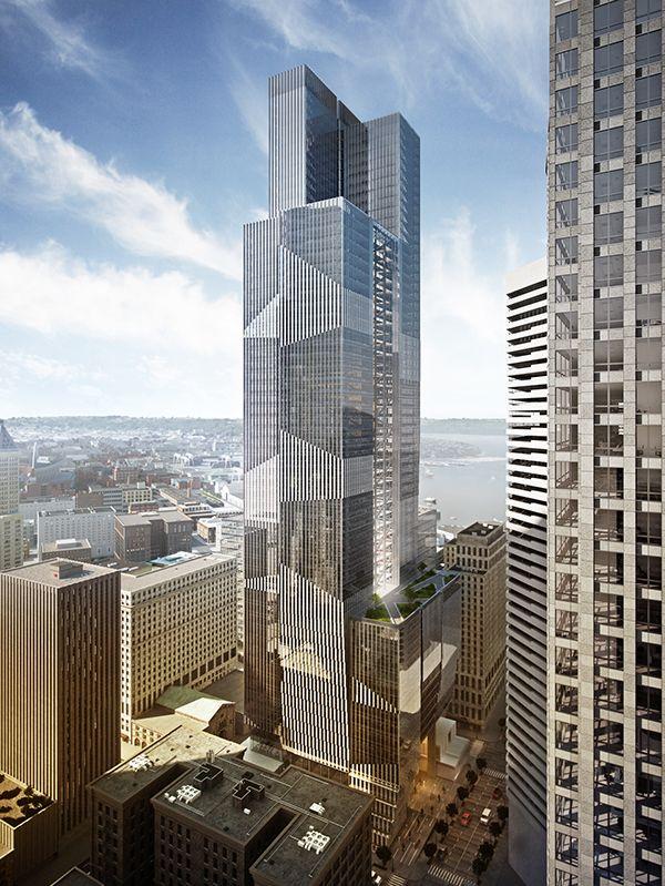 888 Second Ave Seattle Architecture SketchesArchitecture BoardModern