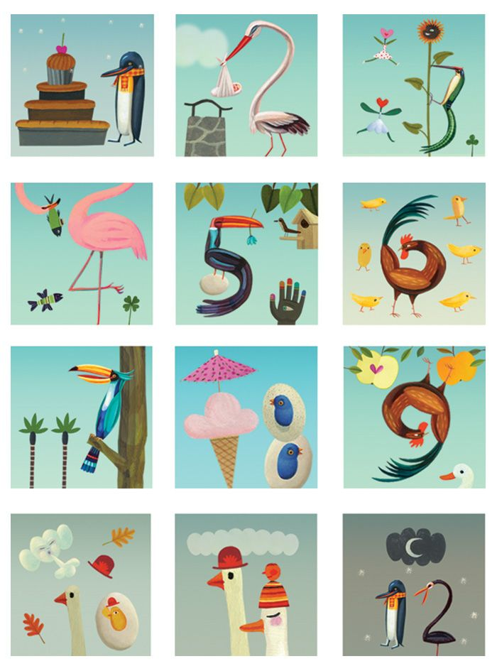 Can't think of a more beautiful way to learn counting.... Design by Tom Schamp