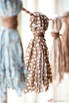 Tassels from fabric yarn