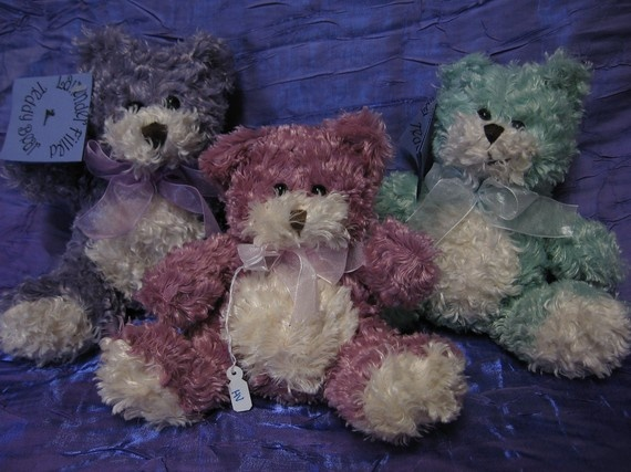 Lavender Teddy Bear by herbalvisionz on Etsy, $18.00