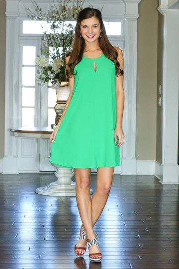 Make them all green with envy in this stunning dress! Must have, kelly green dress! The opportunities are endless in this beauty! Repin!