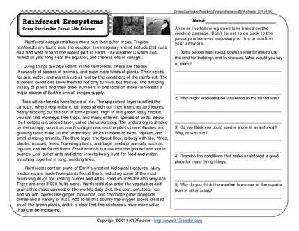 6th Grade Reading Comprehension Worksheets Free | Free ...