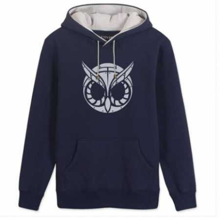 Cool owl printed pullover hoodies for men