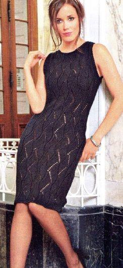 Нарядное вязаное платье