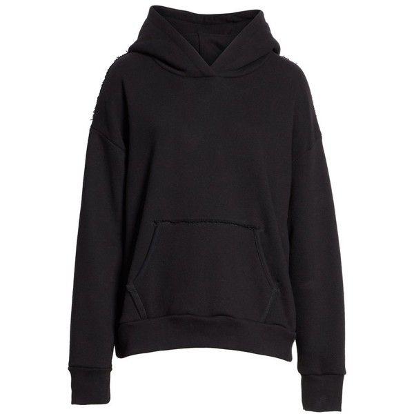 Women's Simon Miller Boise Hoodie (740 PEN) ❤ liked on Polyvore featuring tops, hoodies, sweatshirt hoodies, hooded pullover, drop shoulder hoodie, simon miller and hoodie top