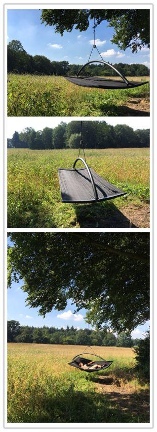 De hangmat RELUXX Tribus.  Eén ophangpunt waardoor u heerlijk blijft zweven. Binnen of buiten. Waar u ook een ophangpunt heeft, kunt u genieten!.