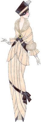 """Paul Poiret eliminó el corsé a partir de 1906, recogiendo las primeras teorías de liberación de la mujer y las nuevas influencias de los estudios sobre higiene y salud.  Poiret presentó el vestido sin corsé y cintura alta en 1906, cuando la silueta en forma de """"S"""" todavía era popular. Con ello empezaba a insinuarse el cambio de las ostentosas formas artificiales del siglo XIX a un estilo revolucionario que destacaba la belleza natural del cuerpo."""