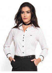 camisa social feminina branca principessa shirlene look