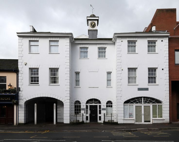 """Asprey Court, Kings Road, Reading    This classically styled frontage conceals a development of modern apartments close to Reading town centre    """"Asprey Court, Kings Road, Reading"""" by Edward Lever at PicturesofEngland.com"""