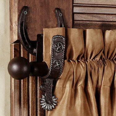 horse shoe & spur curtain rod