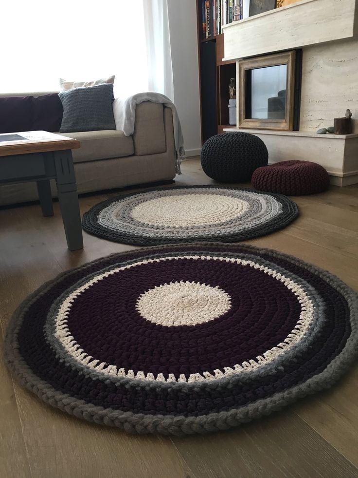 Horgolt szőnyeg, Crochet rug