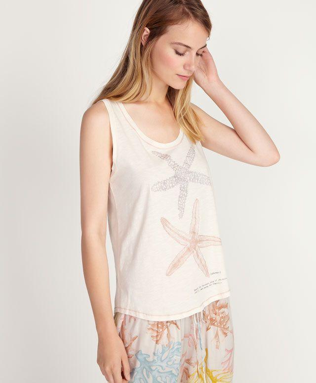 Camiseta coral estrellas de mar - OYSHO