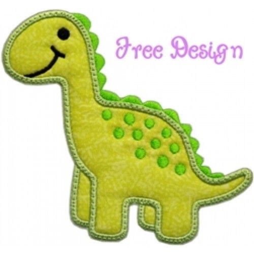 Free Applique Designs | FREE Darling Dino Applique