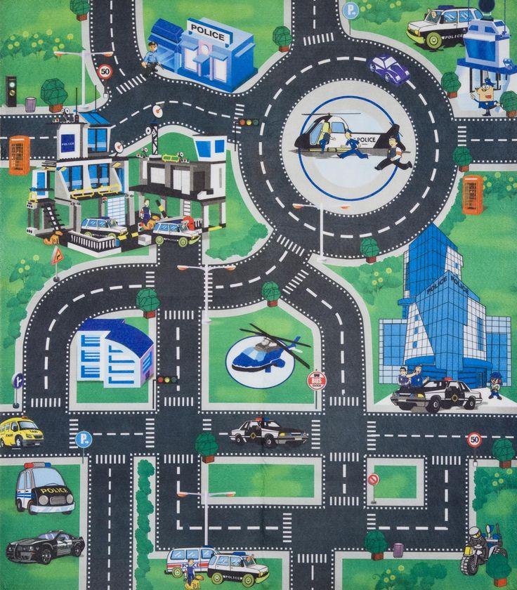 Kids Childrens Boys Car Road Play Mat Roll Up Bithday Xmas