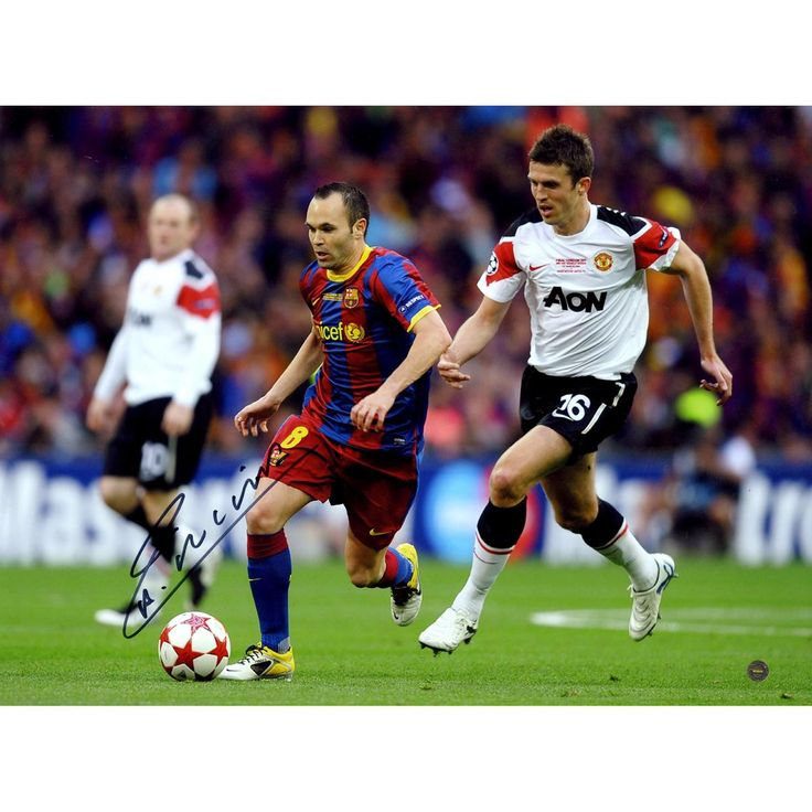 Andres Iniesta Signed Champions League Final 2011 12x16 Photo (Icons Auth & Third Party Holo)