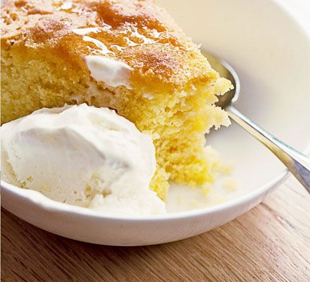 Give your dessert an Italian flavour with this moist and fruity polenta cake