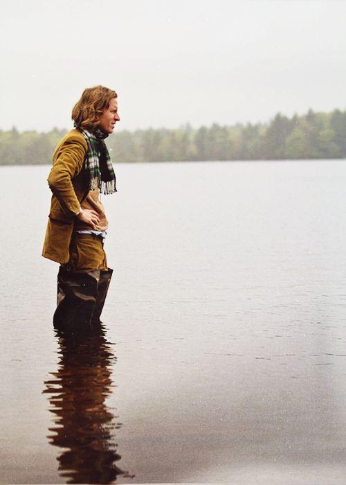 Wes Anderson on set of Moonrise Kingdom
